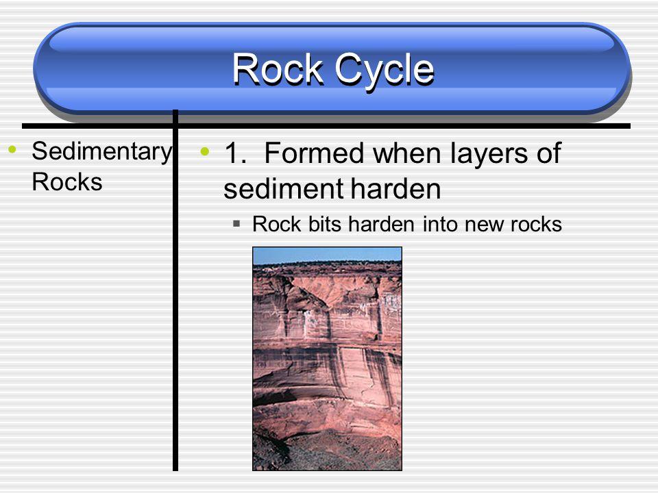 Rock Cycle Sedimentary Rocks 1.