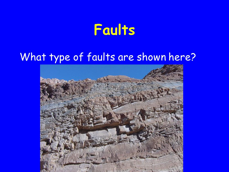 Faults What type of faults are shown here?