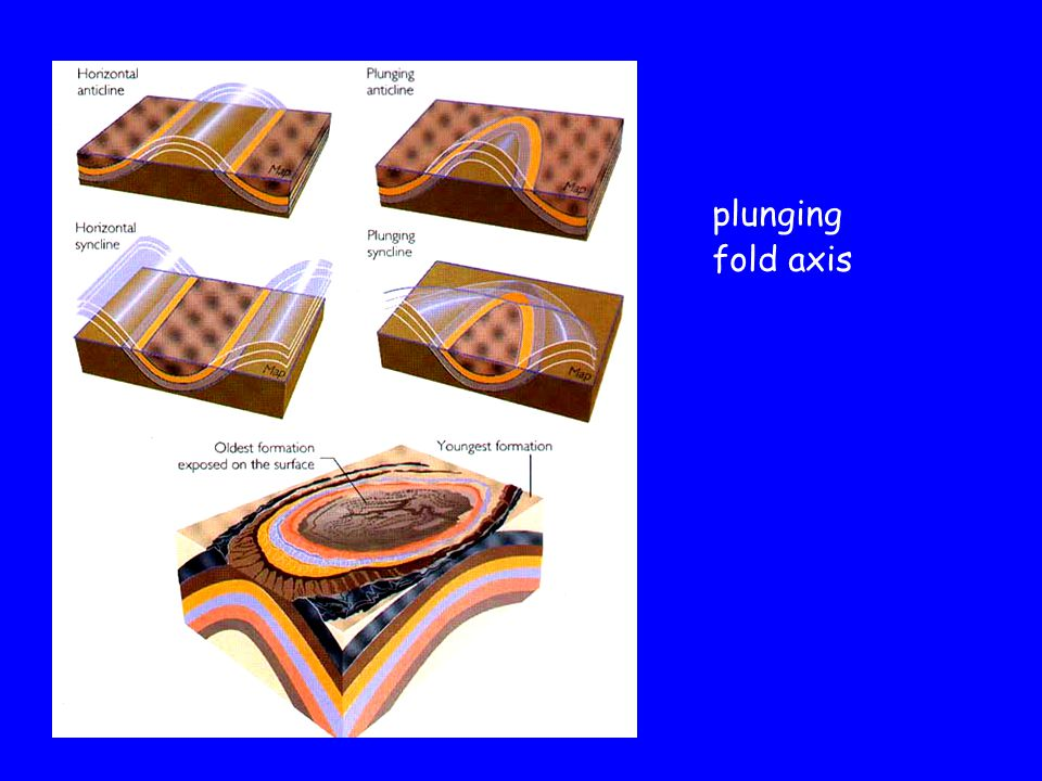 plunging fold axis