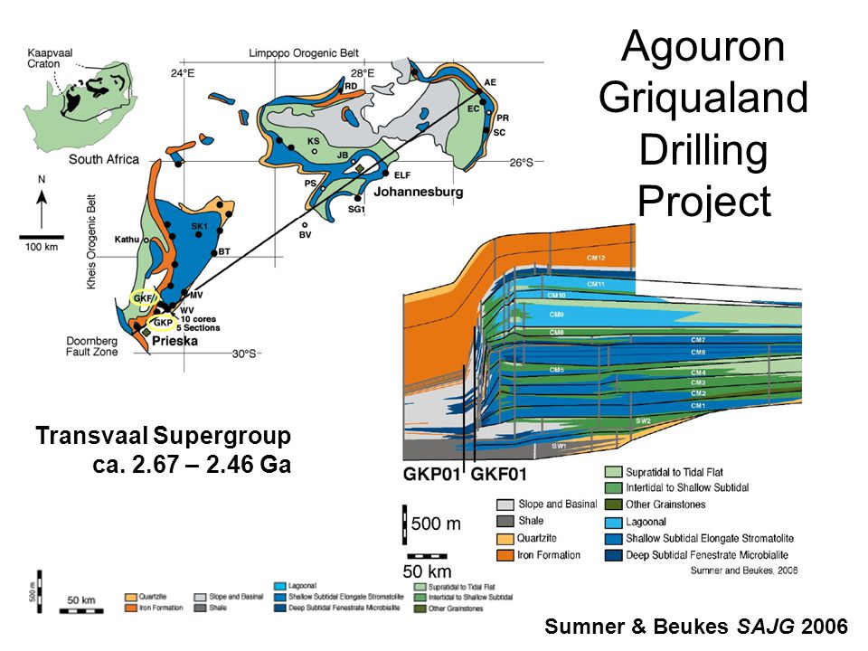 Agouron Griqualand Drilling Project Transvaal Supergroup ca.