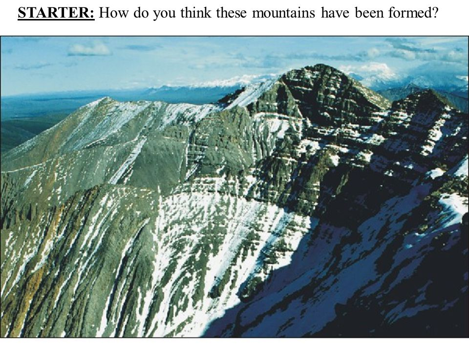 STARTER: How do you think these mountains have been formed?
