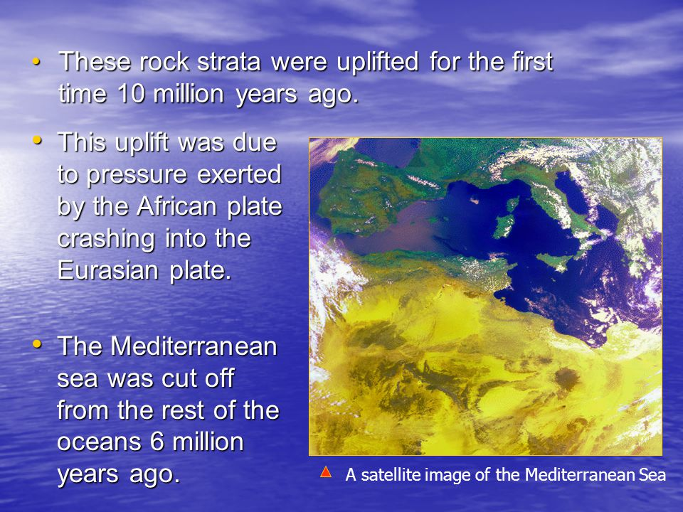 This caused the drying up of the sea and thus a land bridge emerged connecting the Maltese Islands with Sicily and Europe.