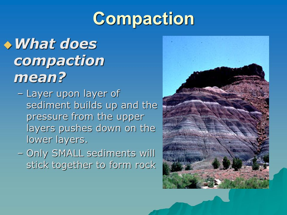 Compaction  What does compaction mean.