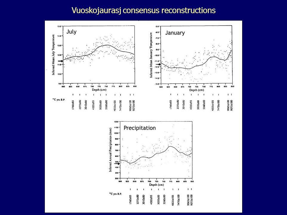 Vuoskojaurasj consensus reconstructions