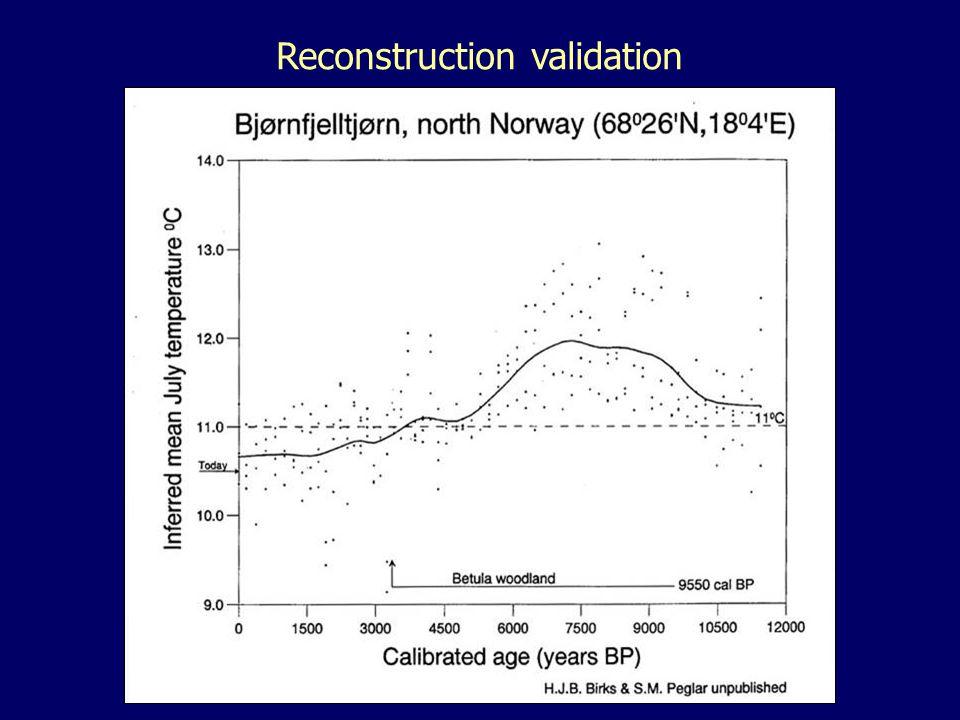 Reconstruction validation