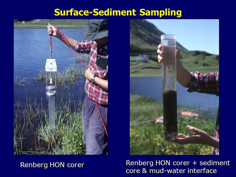 Surface-Sediment Sampling Renberg HON corer Renberg HON corer + sediment core & mud-water interface