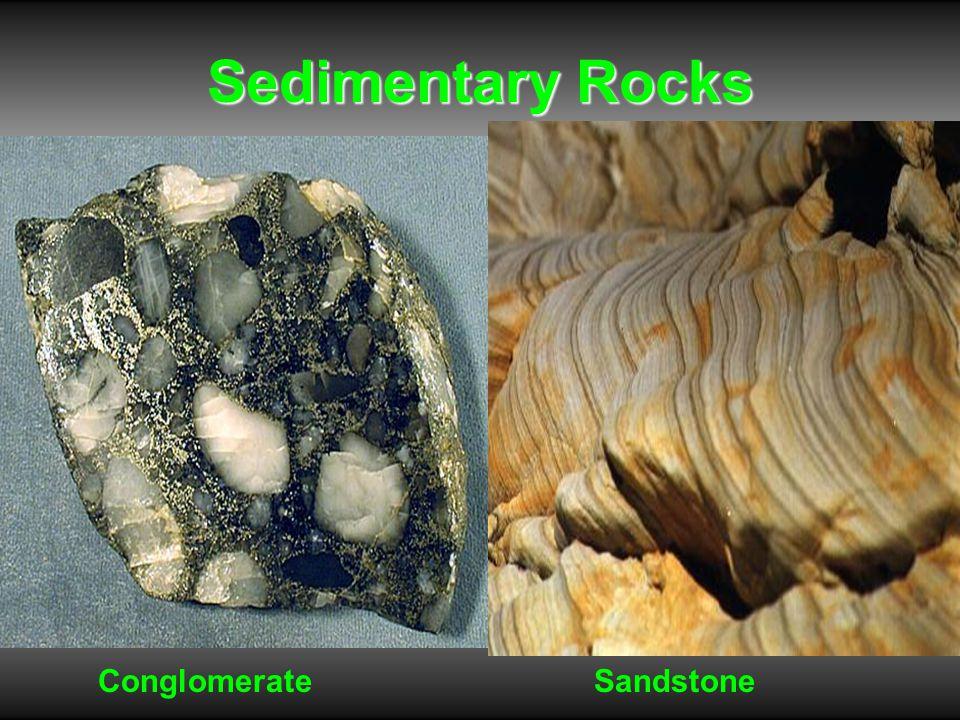 Sedimentary Rocks ConglomerateSandstone