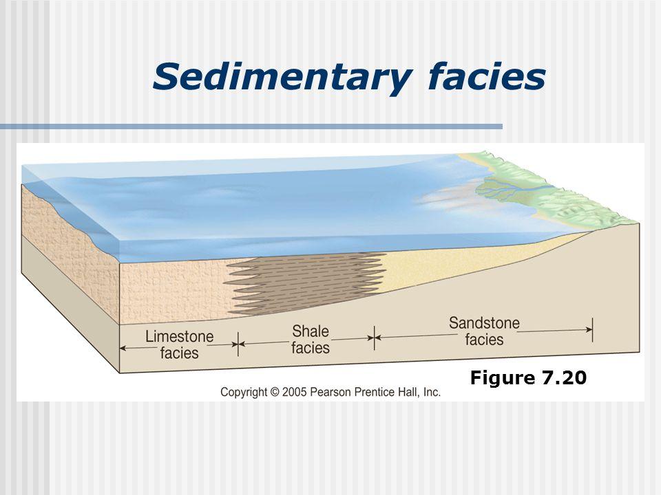 Sedimentary facies Figure 7.20