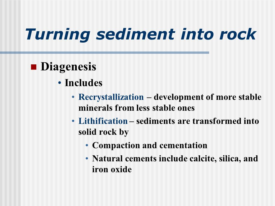 Classification of sedimentary rocks Two major textures are used in the classification of sedimentary rocks Clastic Discrete fragments and particles All detrital rocks have a clastic texture Nonclastic Pattern of interlocking crystals May resemble an igneous rock