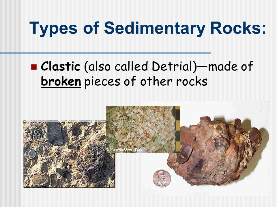 Sedimentary structures Provide information useful in the interpretation of Earth history Types of sedimentary structures Strata, or beds (most characteristic of sedimentary rocks) Bedding planes that separate strata Cross-bedding