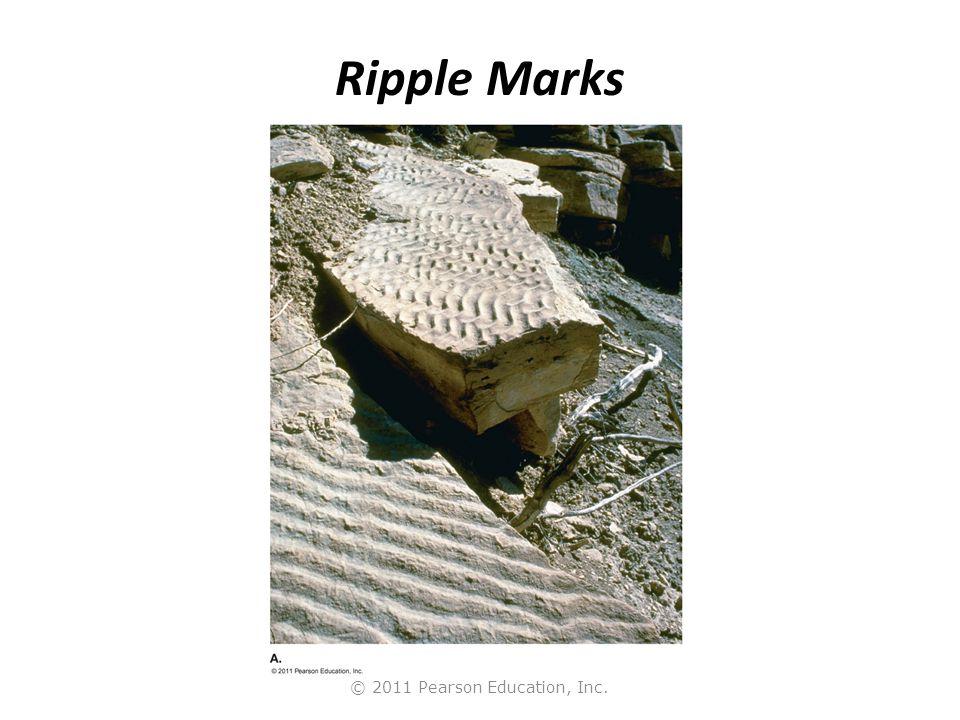 © 2011 Pearson Education, Inc. Ripple Marks