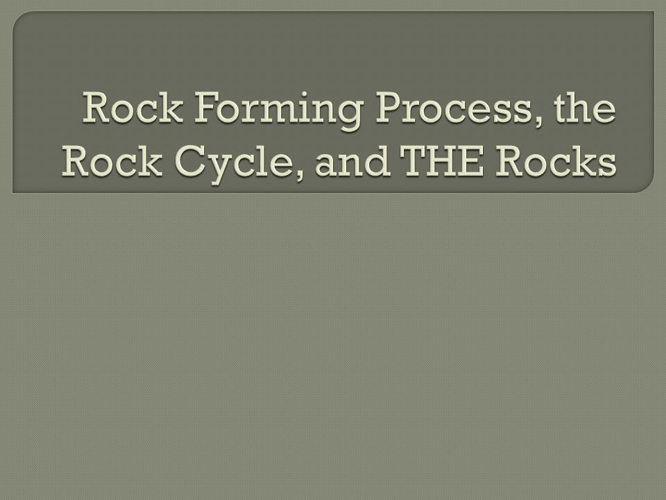 Chemistry changes influence rock type