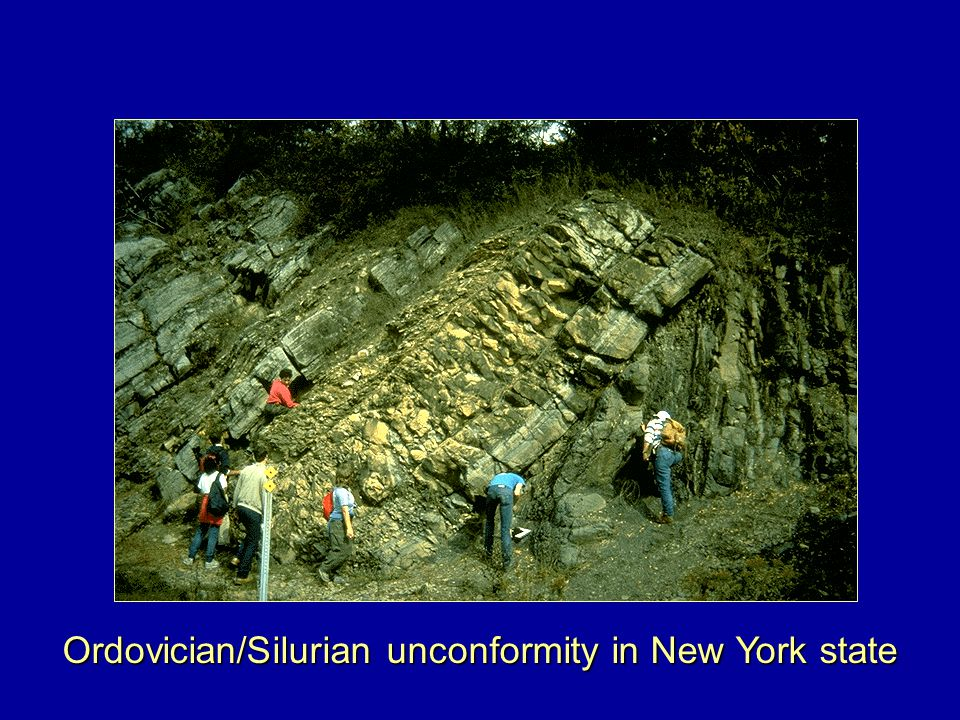 Ordovician/Silurian unconformity in New York state
