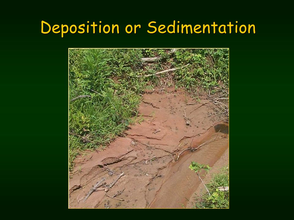 Deposition or Sedimentation