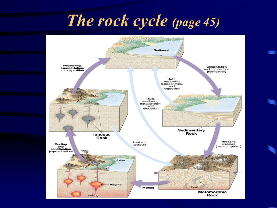 B - Chemical Inorganic rocks  Chemical Sedimentary Rocks From precipitating solutions Evaporites: Salt or gypsum rocks, Through increase in concentration: Hematite, chert, flint, jasper, or agate