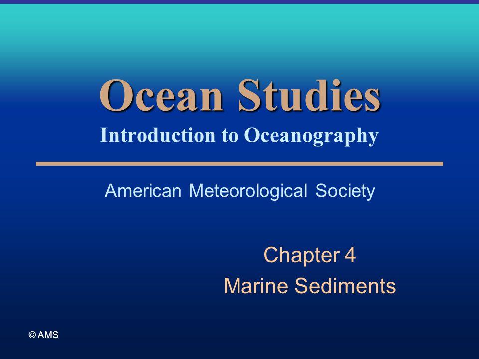 © AMS Ocean Studies Ocean Studies Introduction to Oceanography American Meteorological Society Chapter 4 Marine Sediments