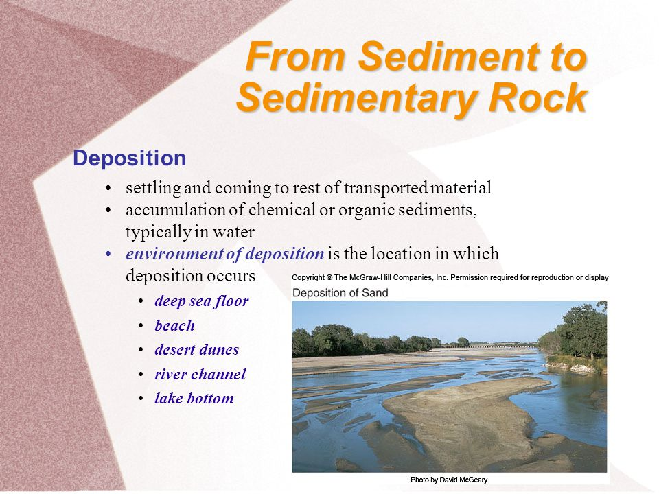 Preservation sediment must be preserved, as by burial with additional sediments, in order to become a sedimentary rock Lithification general term for processes converting loose sediment into sedimentary rock combination of compaction and cementation From Sediment to Sedimentary Rock