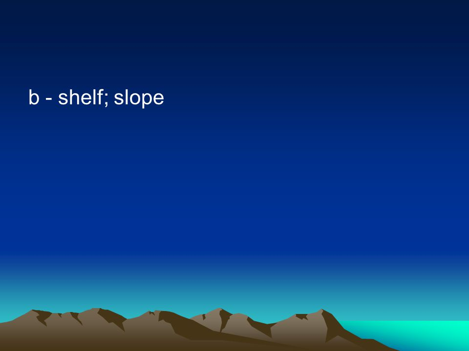 b - shelf; slope