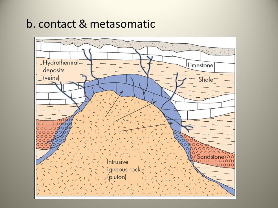b. contact & metasomatic