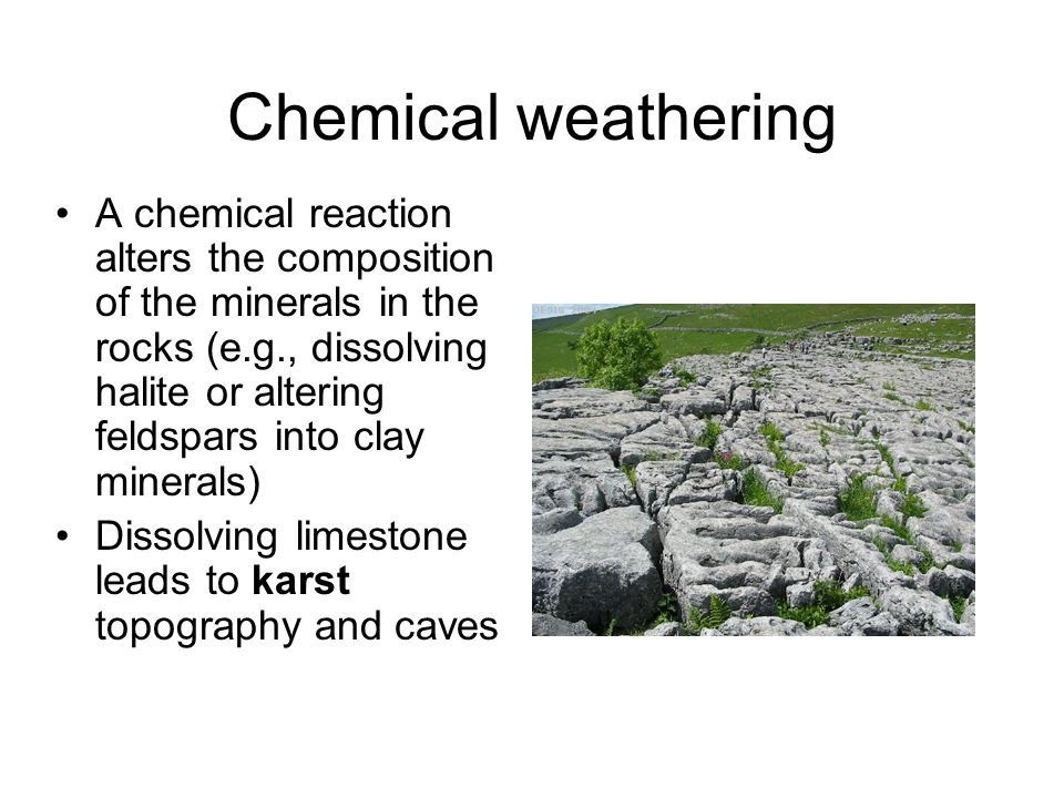 Caves are the product of varying water tables and limestone dissolution; cave formations (speleothems) are the result of calcite precipitation