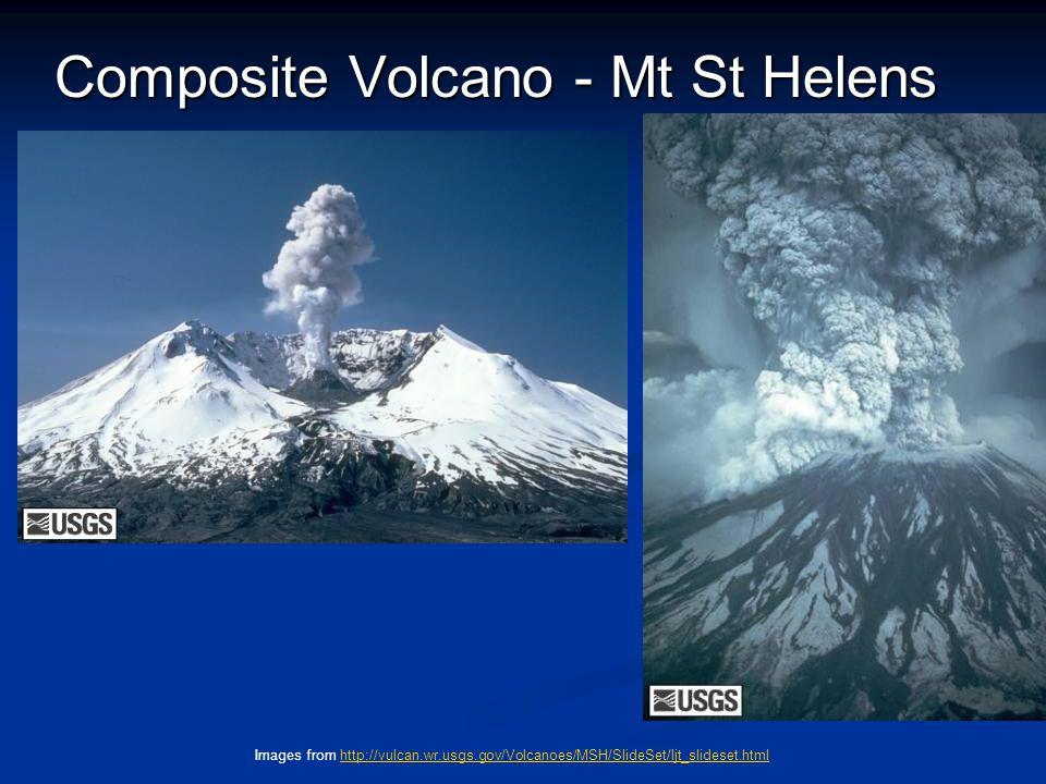 Composite Volcano - Mt St Helens Images from http://vulcan.wr.usgs.gov/Volcanoes/MSH/SlideSet/ljt_slideset.htmlhttp://vulcan.wr.usgs.gov/Volcanoes/MSH/SlideSet/ljt_slideset.html