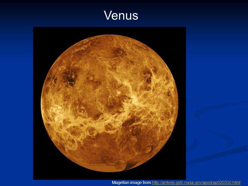 Venus Magellan image from http://antwrp.gsfc.nasa.gov/apod/ap020330.htmlhttp://antwrp.gsfc.nasa.gov/apod/ap020330.html