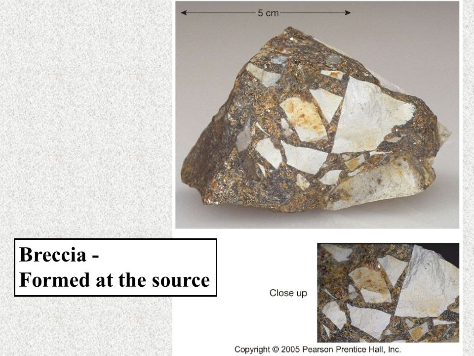 Breccia - Formed at the source