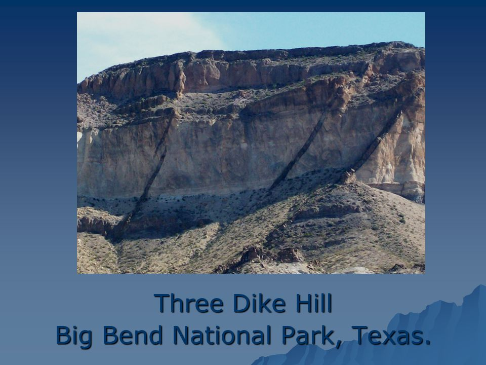 Three Dike Hill Big Bend National Park, Texas.