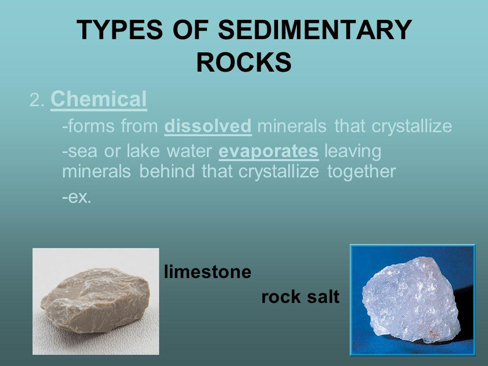 TYPES OF SEDIMENTARY ROCKS 2.