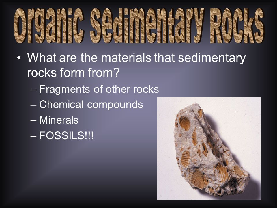 When the water in lakes and seas evaporates they leave behind the chemical compound in concentrated amounts. –What are some of the rocks that can form