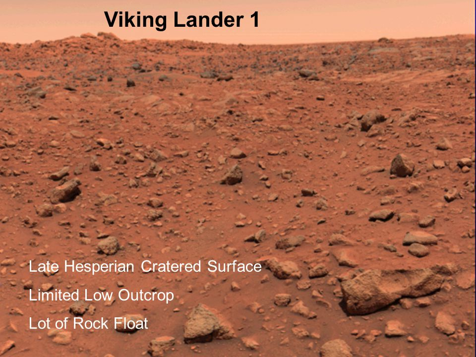 Viking Lander 1 Late Hesperian Cratered Surface Limited Low Outcrop Lot of Rock Float