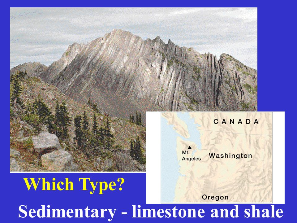 Sedimentary - limestone and shale