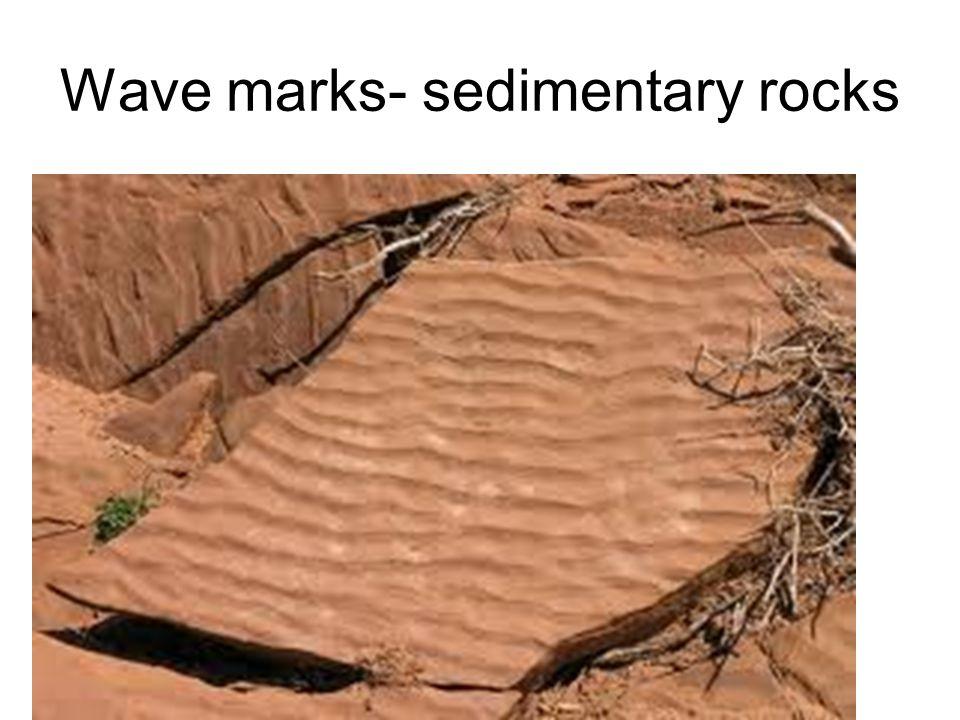 Wave marks- sedimentary rocks