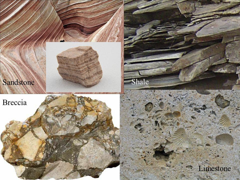 Breccia Shale Limestone Sandstone