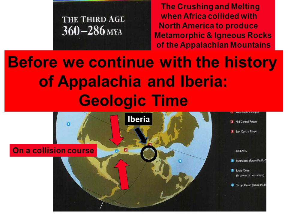 The Crushing and Melting when Africa collided with North America to produce Metamorphic & Igneous Rocks of the Appalachian Mountains On a collision co