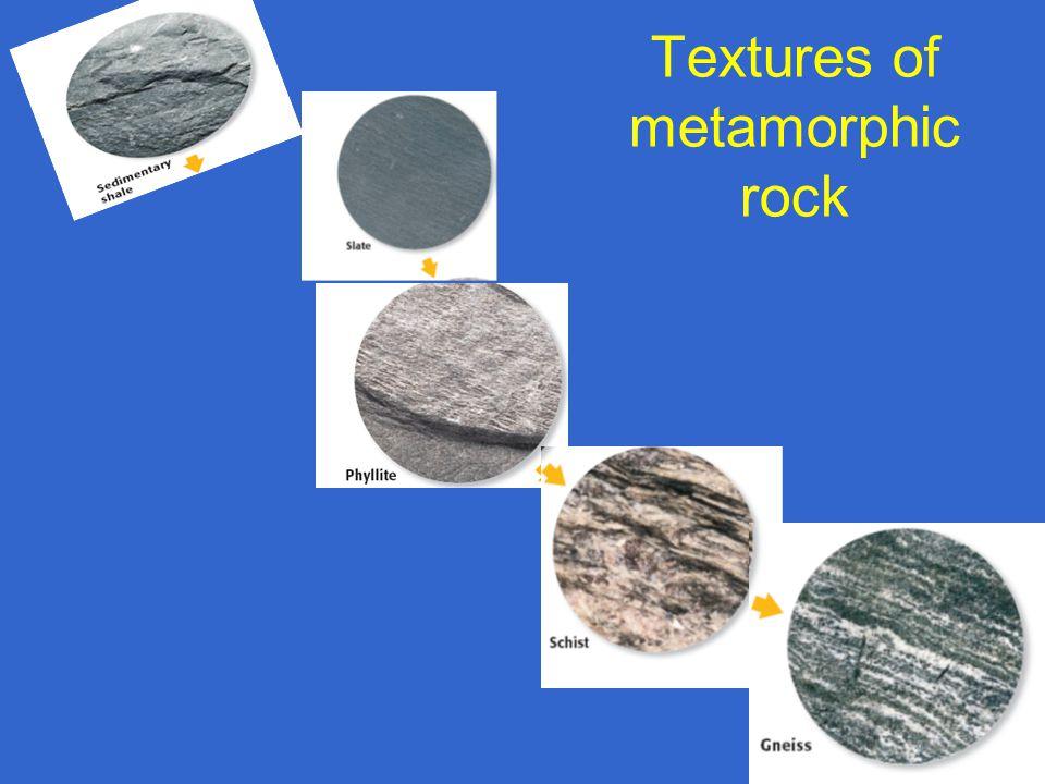 Textures of metamorphic rock