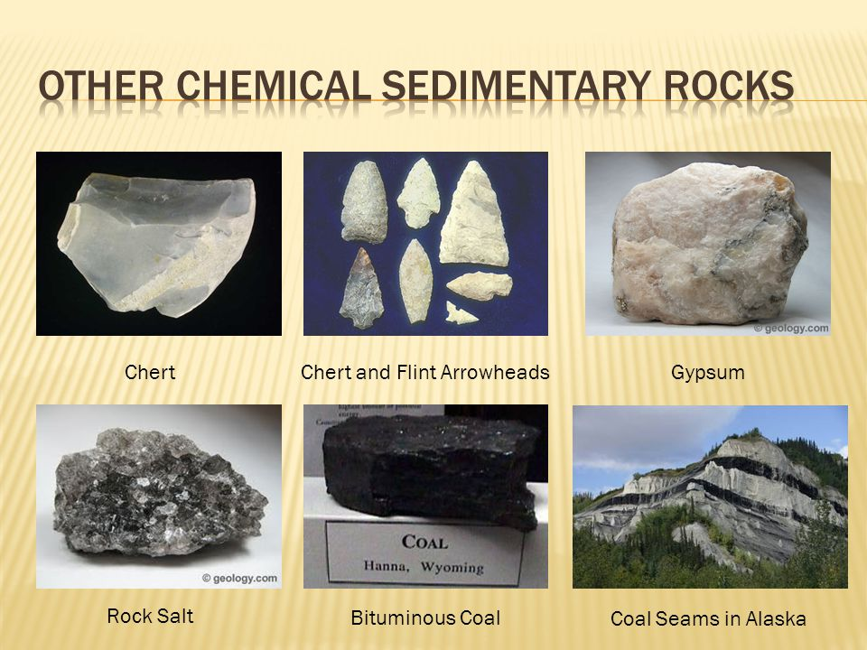 Chert Chert and Flint Arrowheads Gypsum Rock Salt Bituminous Coal Coal Seams in Alaska