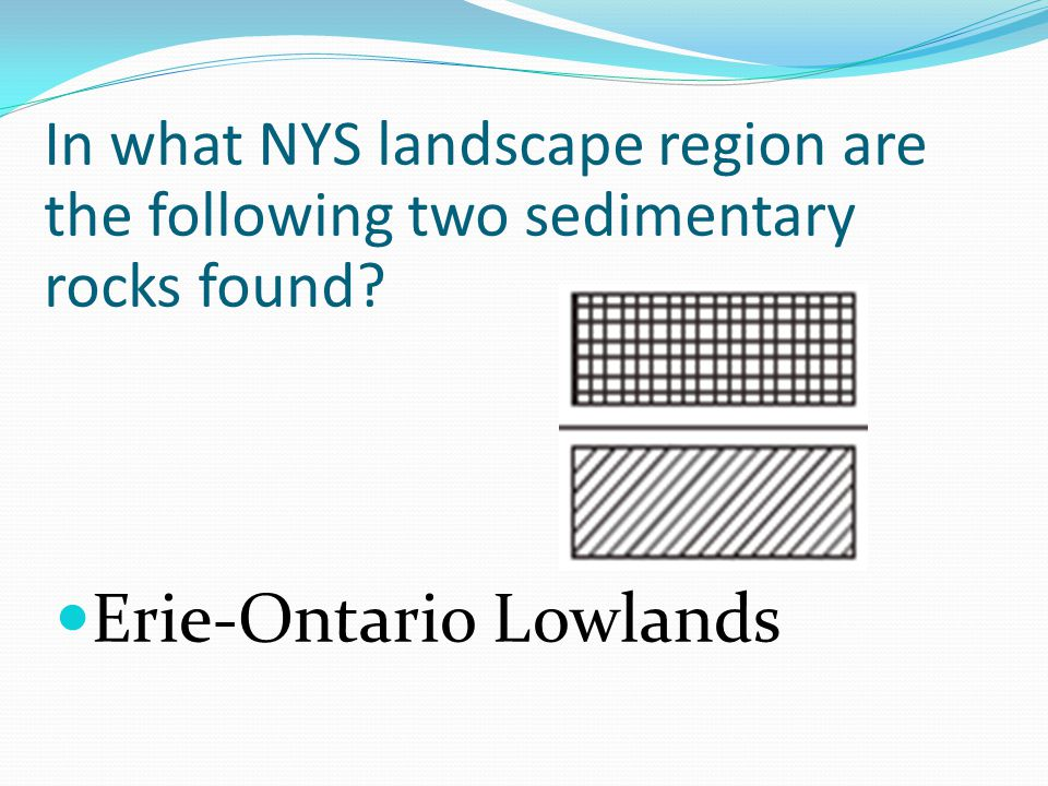 In what NYS landscape region are the following two sedimentary rocks found Erie-Ontario Lowlands