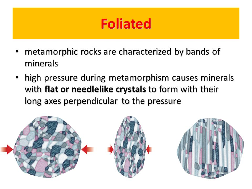 Nonfoliated composed mainly of minerals that form with blocky crystal shapes.