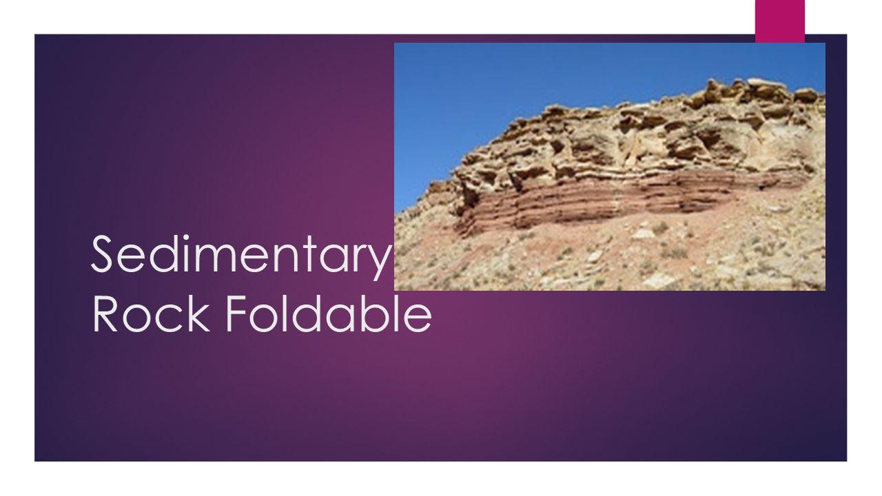 Sedimentary Rock Foldable