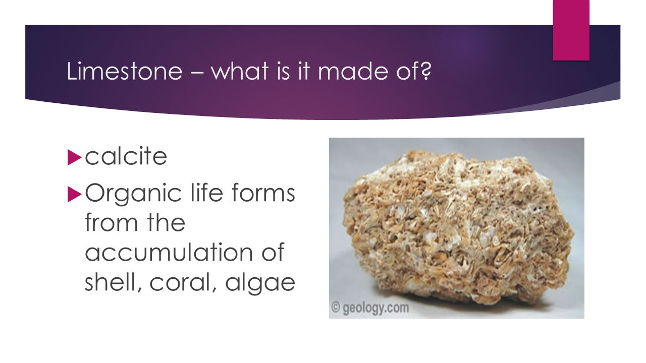 Limestone – what is it made of.