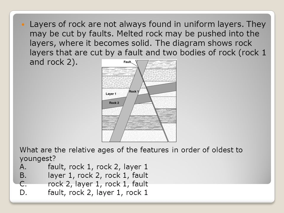 Layers of rock are not always found in uniform layers.