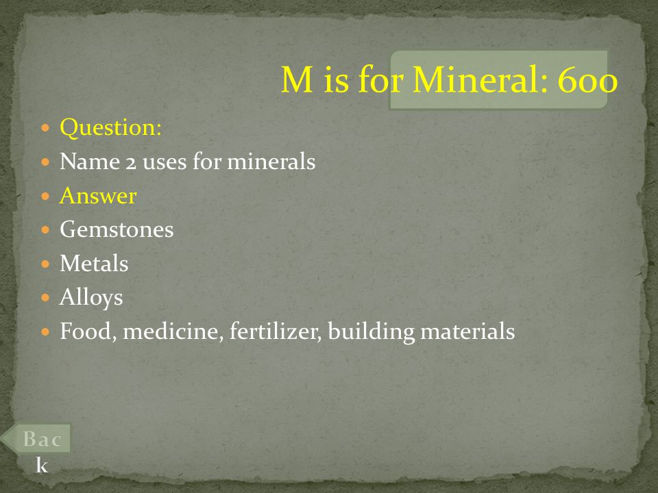 Question: What type of rock is mined to extract a metal from the ground.