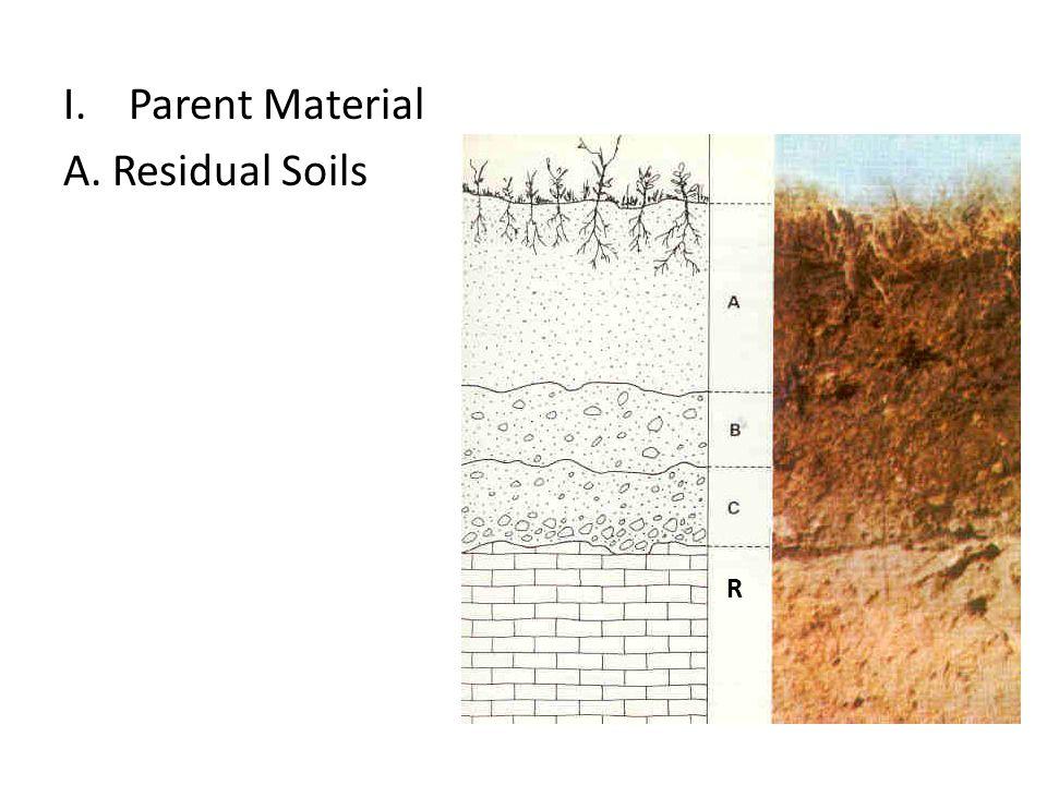 I.Parent Material A. Residual Soils R