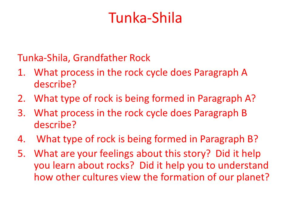 Review: What are the types of rocks.