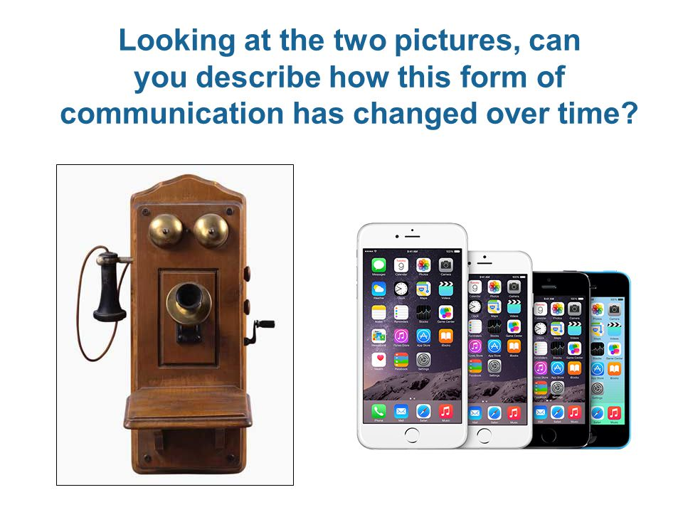 Looking at the two pictures, can you describe how this form of communication has changed over time?