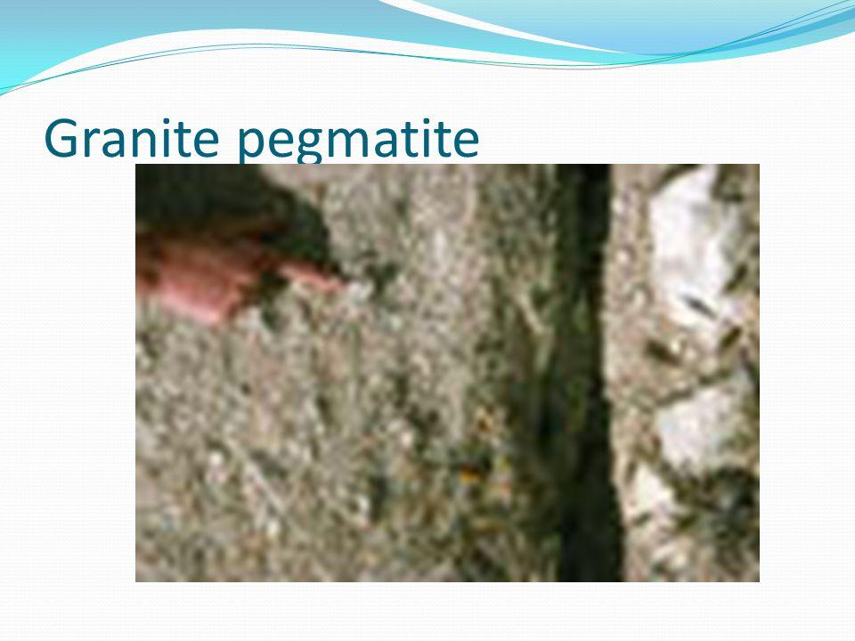 Granite pegmatite