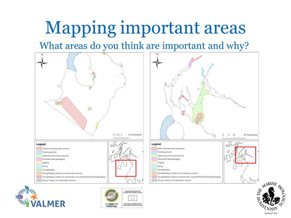Mapping important areas What areas do you think are important and why