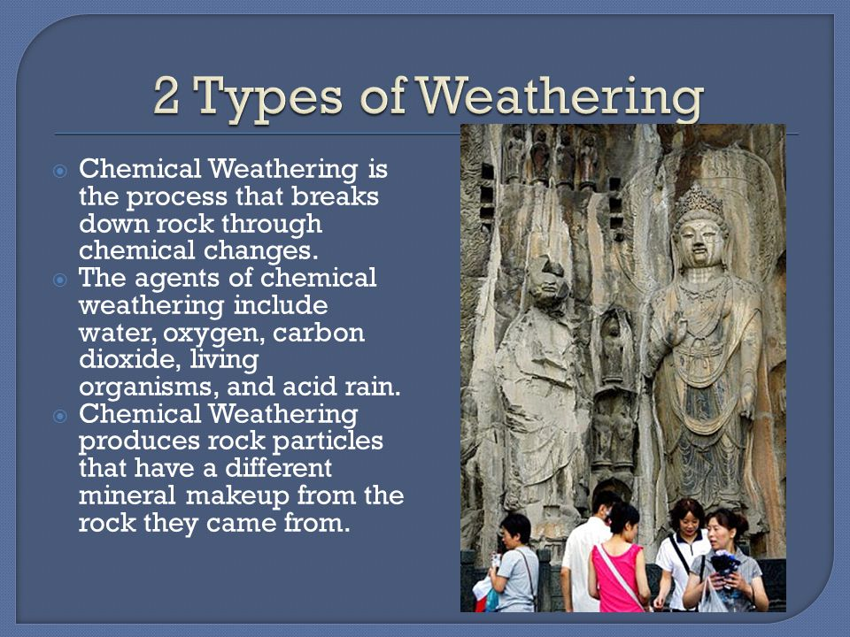  Mechanical Weathering occurs when rock is physically broken into smaller pieces.  Mechanical weathering breaks rocks into pieces by freezing and th