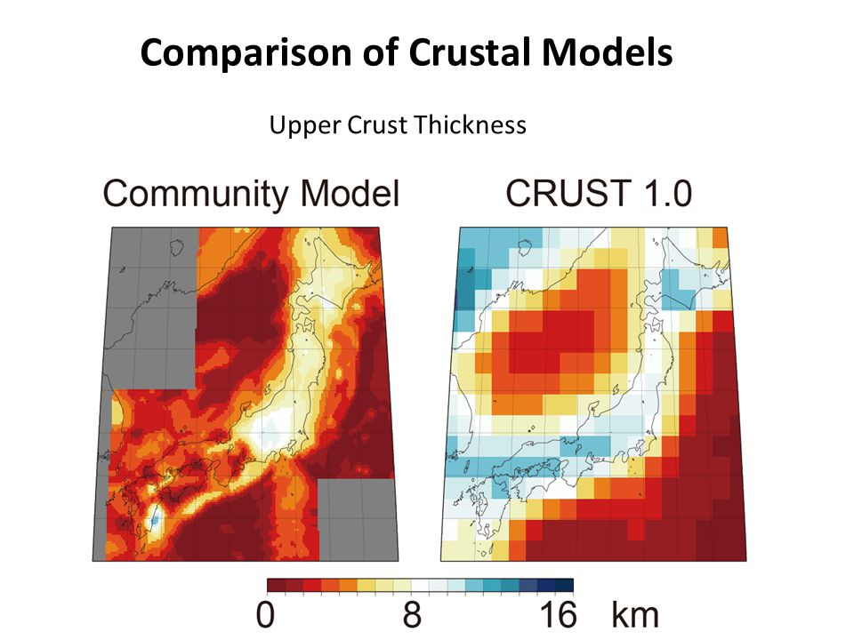 Comparison of Crustal Models Upper Crust Thickness